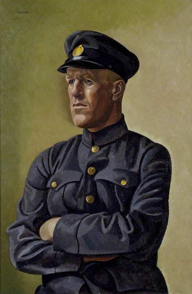 Portrait of T. E. Lawrence as Aircraftsman Shaw, 1923 by William Roberts (British 1895-1980)