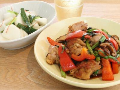 鶏肉と青ねぎのトウチ炒めとかぶの中華風甘酢漬け