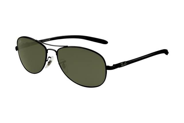 Ray Ban Tech RB8301 Sunglasses Black Frame Green Lens