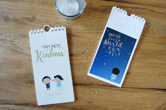 2015 Hand-lettered Calendar Tiny Acts of Kindness by TinyActs
