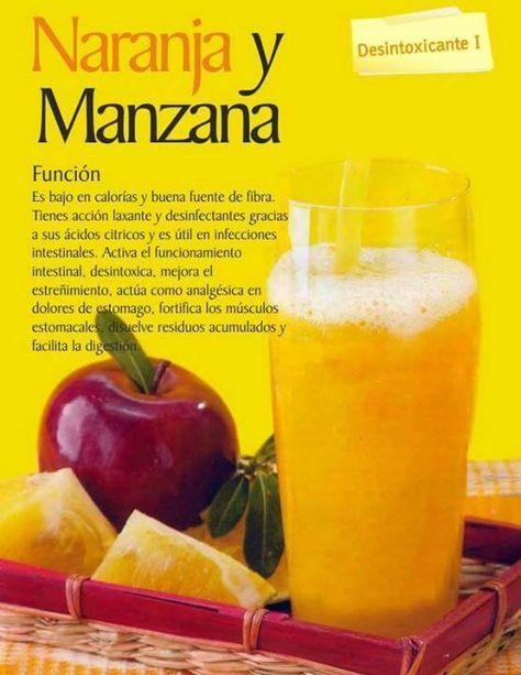 Licuado de Naranja y Manzana (Detox)