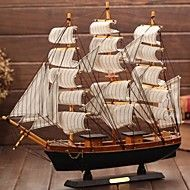 Wooden Sailing Boat Model The Mediterranean Pirate Ship Gift Craft Ship  Smooth Furnishing Articles(Ramdon Color) – USD $ 7.99
