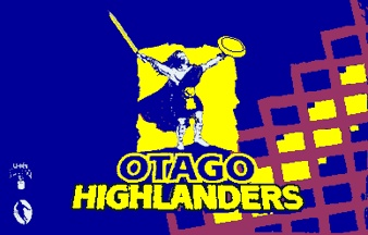 Blue and gold ... plus maroon for the Otago Highlanders!