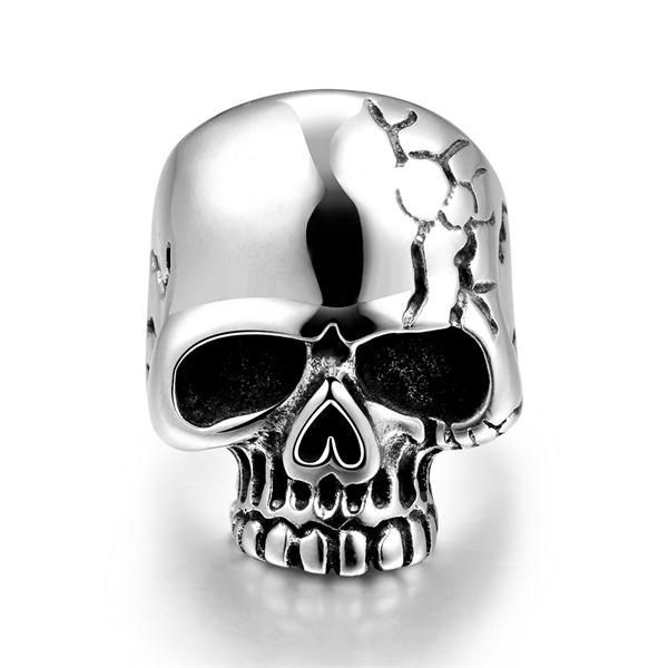 >> Click to Buy << Hot sale 925 Tibet sterling silver jewelry Bald skull ring good for male friend popular fashion party factory direct sales YR184 #Affiliate