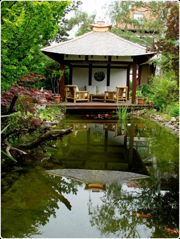 133 best japanese tea houses images on pinterest for Japanese garden structures wood