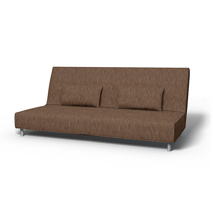 Beddinge, Sofa Covers, Sofa Bed, Regular Fit using the fabric Sybary Almond Brown
