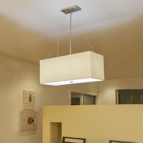 Alexis 3 Light Rectangular Pendant Light & Philips Consumer ...