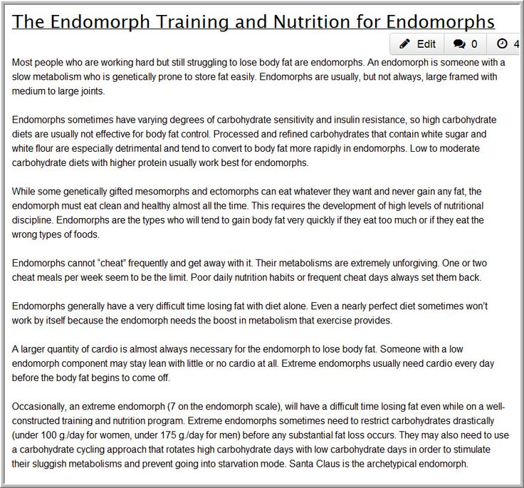 17 Best images about Endo-Mesomorph on Pinterest | Clean ...