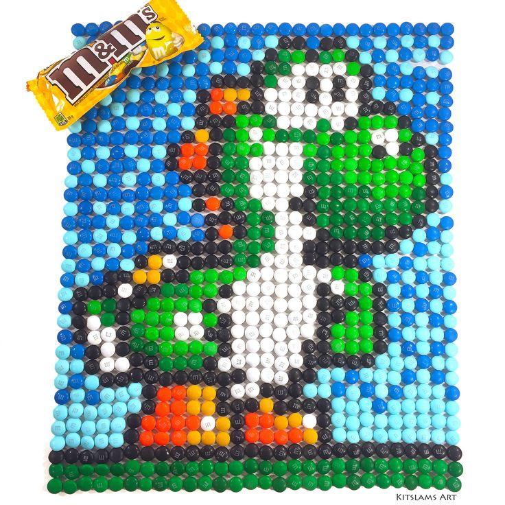 https://flic.kr/p/VdTkie | Yoshi M&M Mosaic | It's my M&M Mosaic of Yoshi of Nintendo.   Watch the Video: youtu.be/YRLtvPciwj8