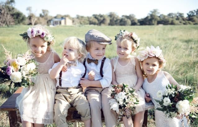 Adorable flower girls and page boys!