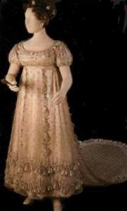 When I saw Princess Charlotte's bellflower court dress (1814-16) at the Museum of London I remember being transfixed and standing in front of the glass case for a half hour. I could not get over th...