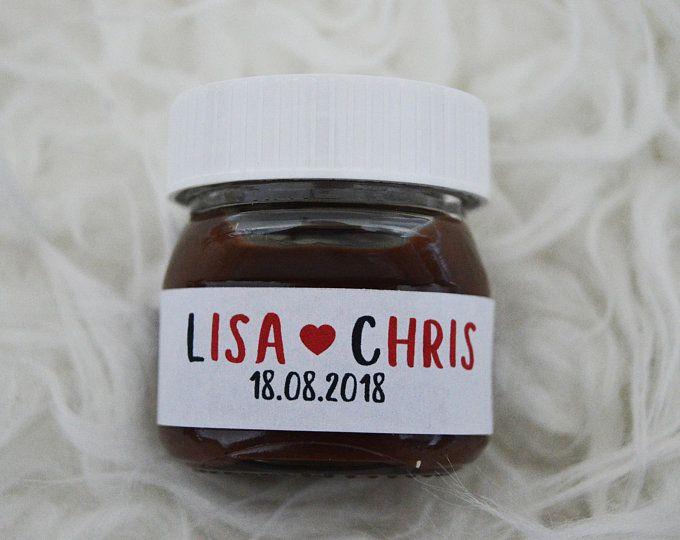 25 X Nutella Mini Etiquettes Pour Mariage Cadeau Vintage Wedding 25 G Favorisent Cadeau Personnalise Nutella Mini Gastgeschenke Hochzeit Gastgeschenke