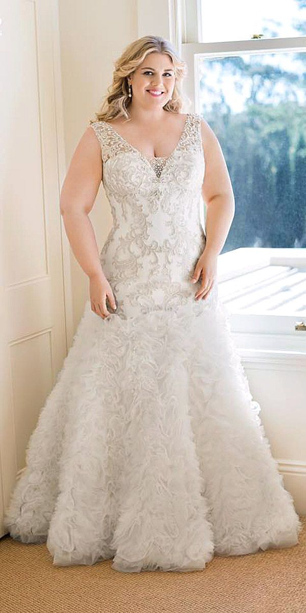 18 Plus-Size Wedding Dresses: A Jaw-Dropping Guide ❤ See more: http://www.weddingforward.com/plus-size-wedding-dresses/ #wedding #dresses