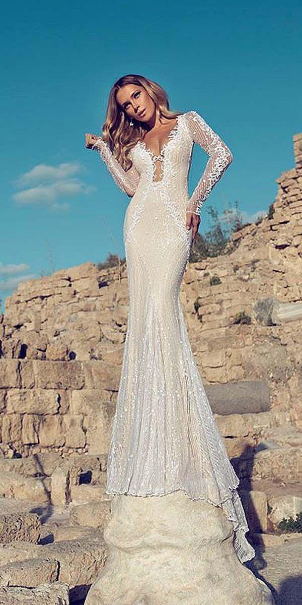 Chic Long Sleeve Wedding Dresses ❤ See more: http://www.weddingforward.com/long-sleeve-wedding-dresses/ #weddings