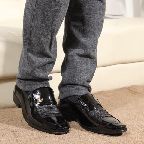 Mens Slip-On Boot Work Dress Shoes