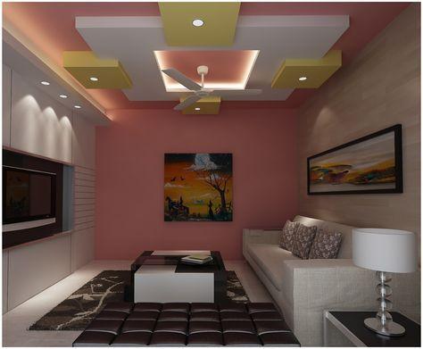 modern pop false ceiling designs with wall design 2016 for living room