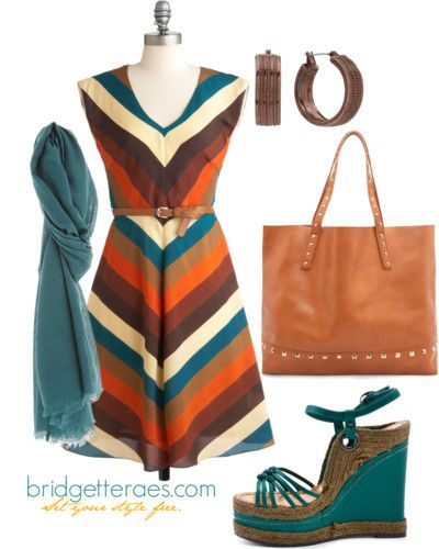 Spring wear for the warm autumn gal--Love this entire outfit! The colors are lovely!