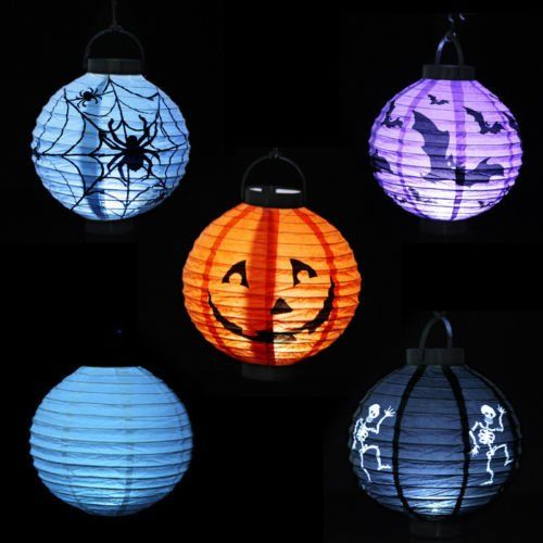 4PCS Paper Vintage Pumpkin Bat Hanging Lantern Light Lamp Halloween Party Decor >>> Click image for more details.