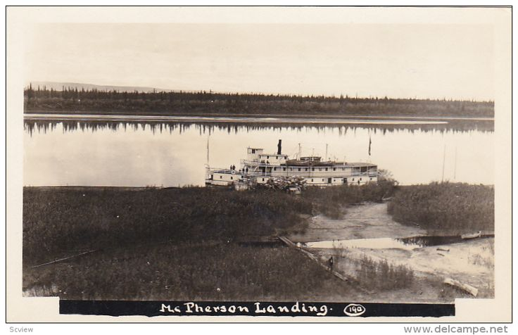 RP: Steamship at Fort McPherson, Northwest Territories [N.W.T.] , Canada , 10-20s