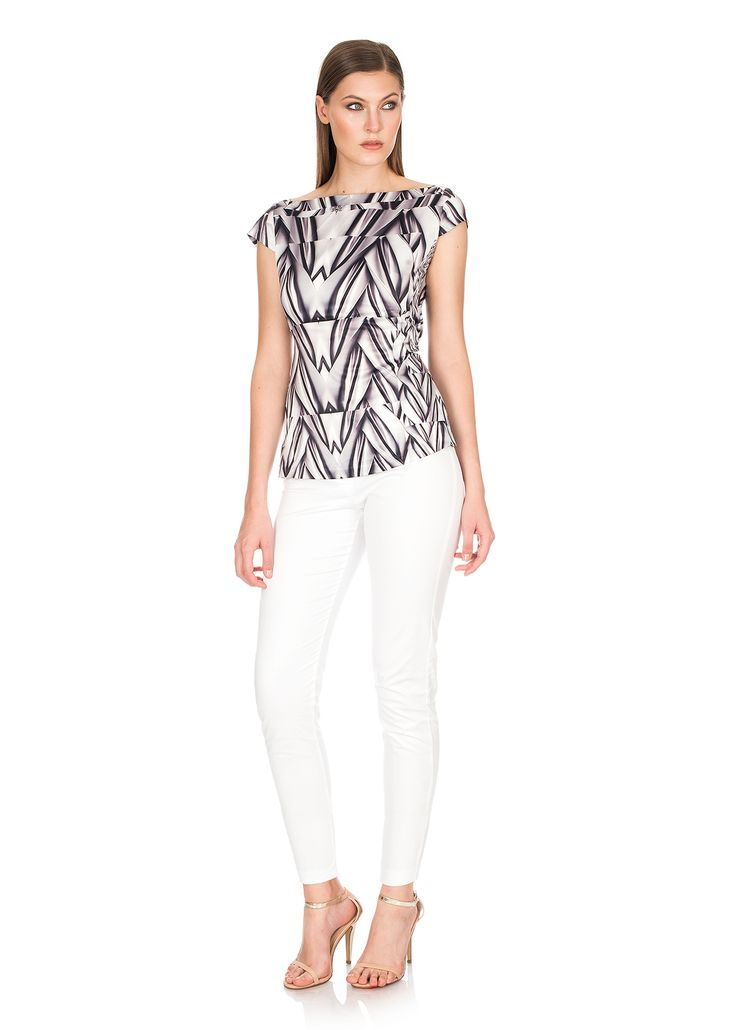Alessia - Silk Cap sleeve Top  / Gisella - Cotton stretch pants/ White  http://shop.mylookinstyle.com/alessia-gisella-look-print/