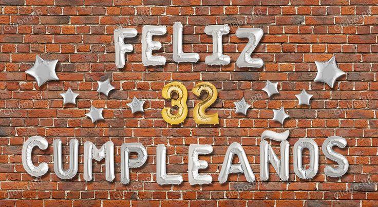 11 best globos metalicos en forma de letras y numeros - Feliz cumpleanos letras ...