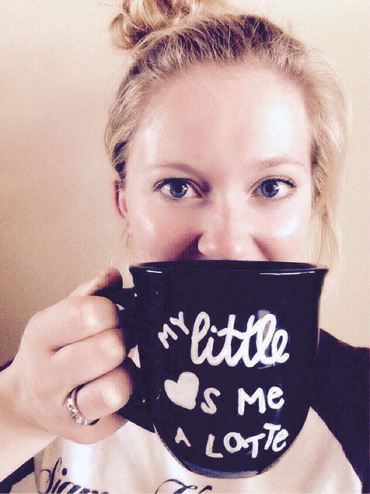 """""""My little loves me a latte"""" mug for big appreciation week"""