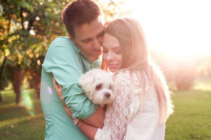 engagement, love, forever, engagement ring, perfect, couple, family, puppy, bichon
