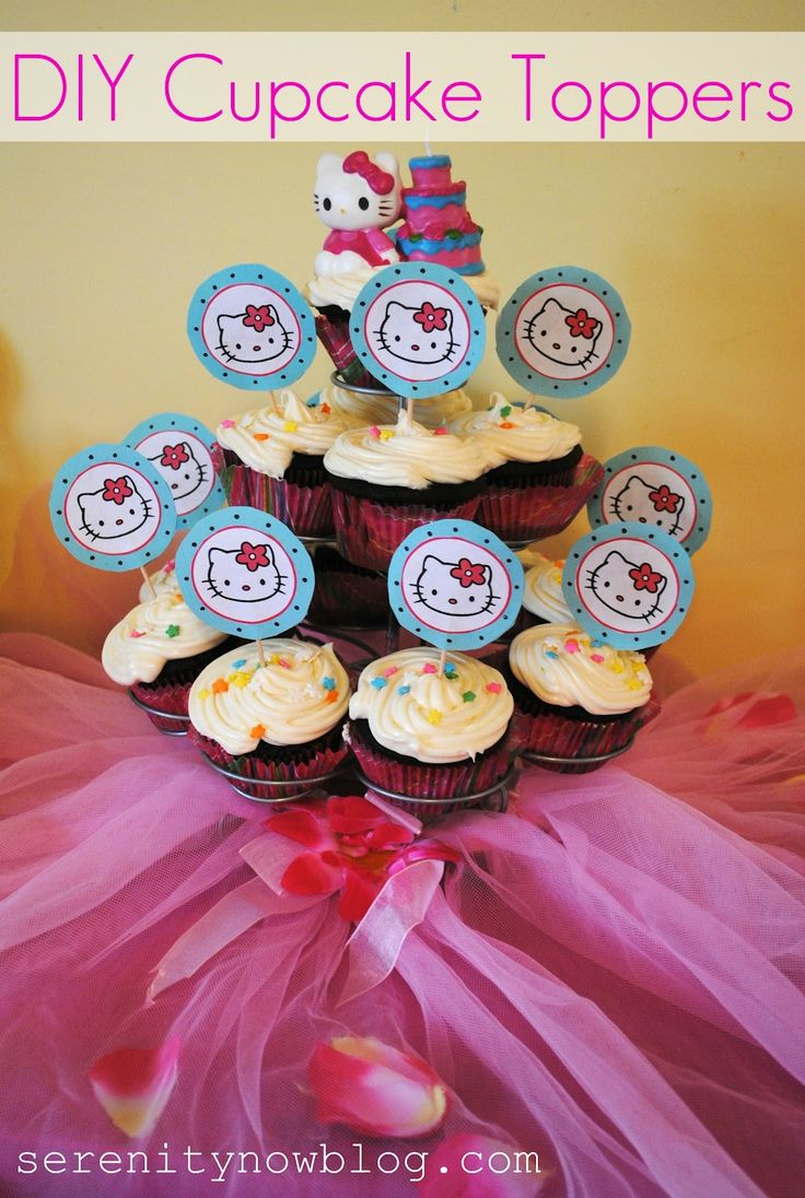 Serenity Now: Cupcake Toppers fai da te (Craft Tutorial)