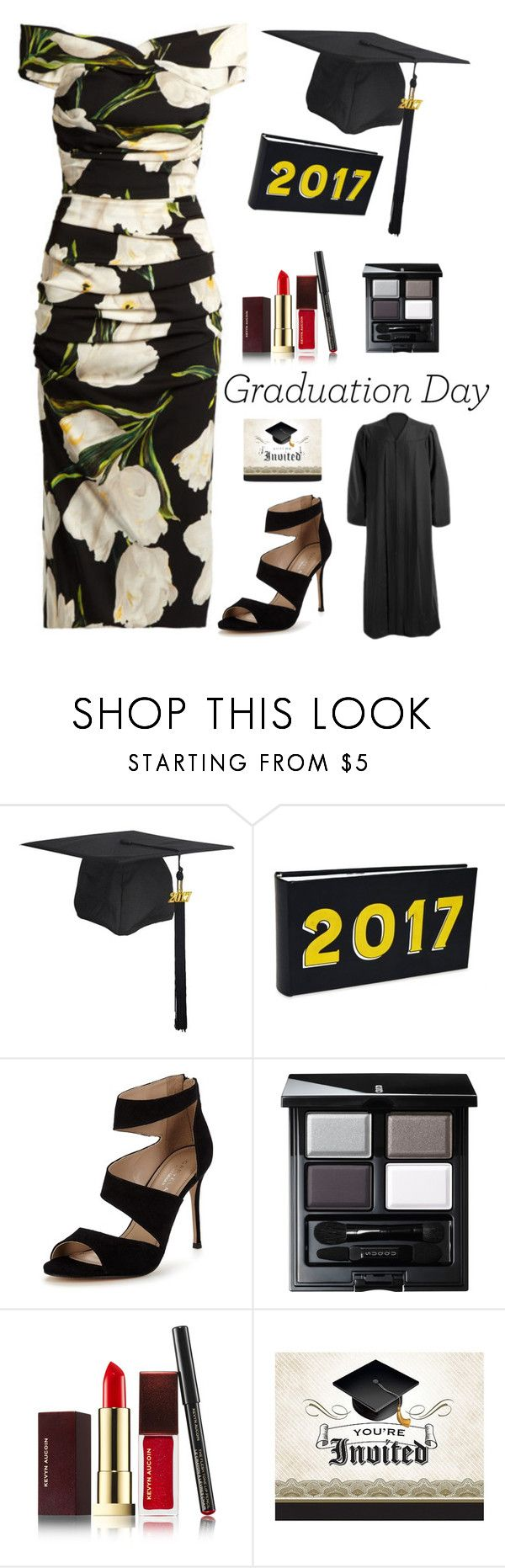 """Graduation Look"" by kotnourka ❤ liked on Polyvore featuring New View, Carvela, SUQQU and Kevyn Aucoin"