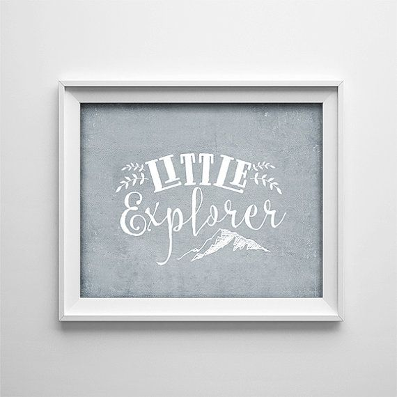 Buy One Get One Free Art Print - Little Explorer - Typography art poster -  Grey white - minimalist - adventure - nursery- mountain- SKU:307