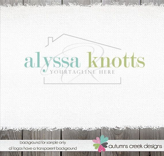 © design, wording & photos are copyright autumns creek 6.12.2015  ♡ item ♡ [alyssa k} - a classic serif font for your name, with your initial(s) behind and a soft house shape around. drawing by me and can be any color you want. ♡ changes included ♡ i will gladly change the name and if you want, the colors.  ♡ files included ♡ your files will be sent in 5 formats eps (vector), psd (flat), png, gif and jpg. ♡ original artwork ♡ all of my logo designs and illustrations are custom drawn by me...