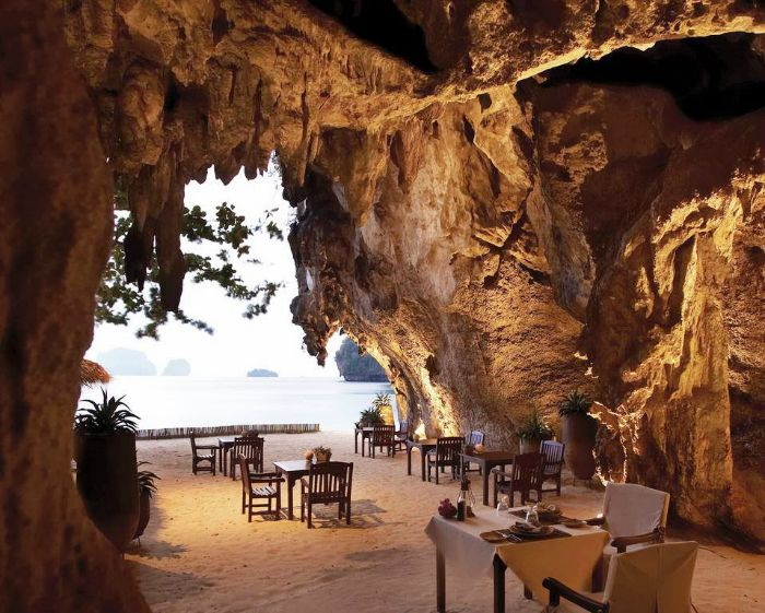 The Grotto - Krabi, Thailand | Top 50 World's Most Amazing Restaurants With Spectacular Views