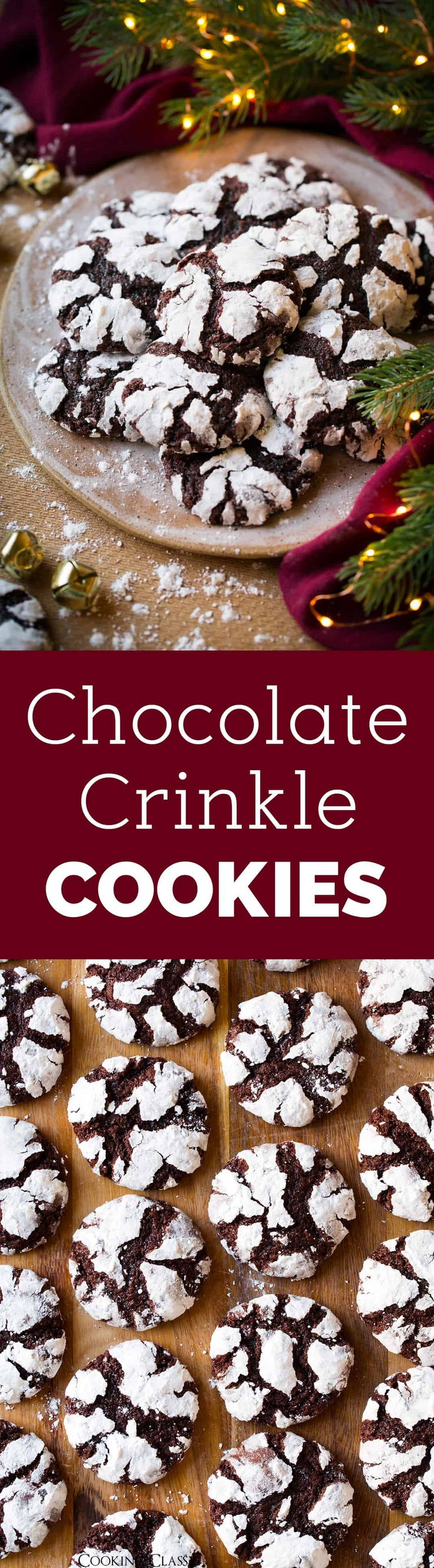 The BEST Chocolate Crinkle Cookies - the cookie we all love! Perfectly soft, tender and chewy. A lot like a brownie but in cookie form - in other words these cookies are sure to satisfy! #christmascookies #cookies #dessert #chocolate #christmas #crinklecookies via @cookingclassy