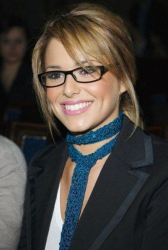 Cheryl Cole. Love her cute glasses