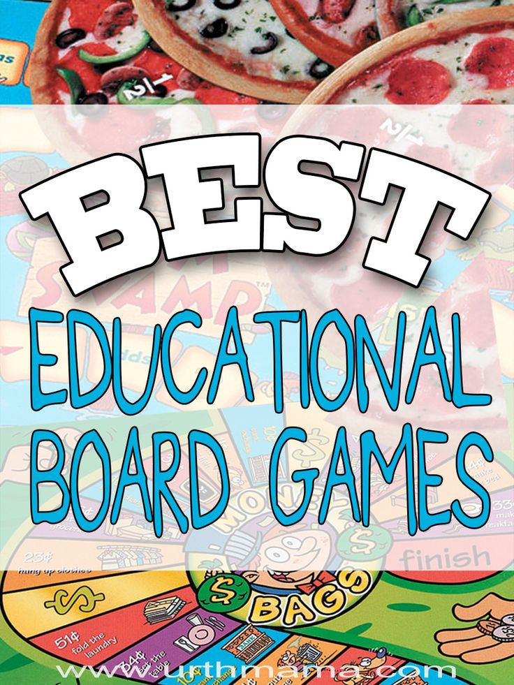 The Best Educational Board Games for learning at home - from a homeschooling mom of 3 young kids. So fun!
