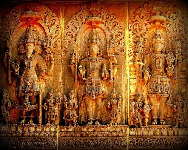 The HIndu trinity at the Hoysaleswara temple. Let your photos speak up for India's heritage | Photo Gallery - Yahoo! Lifestyle India