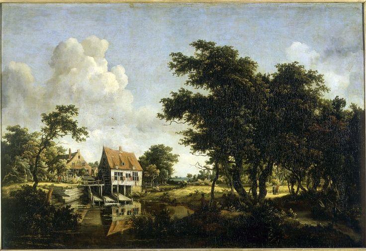 Meindert Hobbema. Les moulins. Vers 1664-1668. Huile sur toile. H. 77 cm ; l. 111 cm