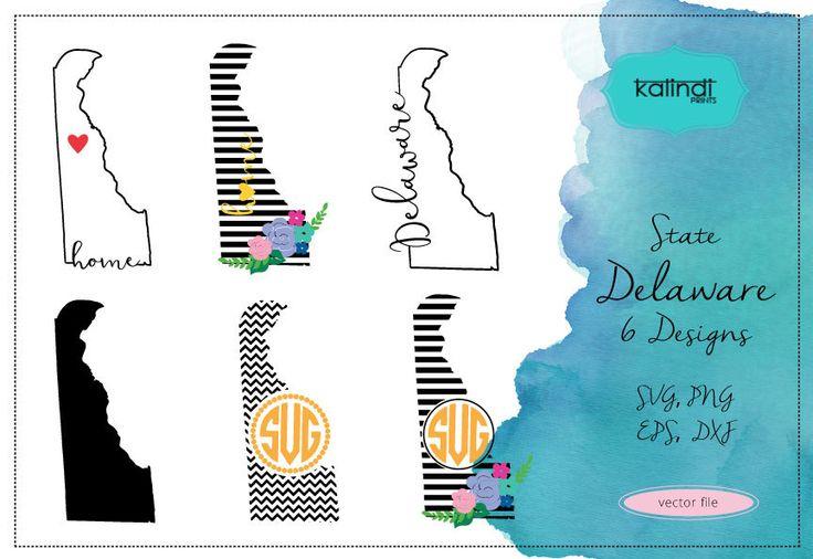 Delaware svg, exas  vector file, Delaware  SVG file, svg, Delaware  state, Delaware  state silhouette  ID#st-de by KalindiPrints on Etsy