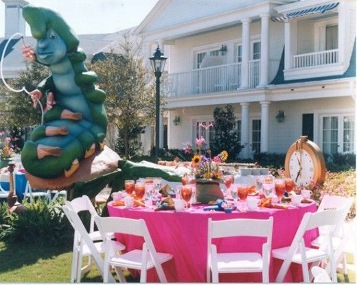 """Mad Hatter"" bridal tea party at Walt Disney World"