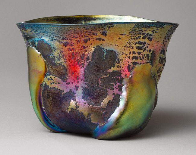 Bowl, ca. 1908  Louis Comfort Tiffany (American, 1848–1933); Tiffany Furnaces  Favrile glass