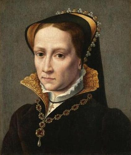 Mary I of England??? Never seen this before, and it does look more modern than I'd like but am pinning because it looks how I have always imagined her.