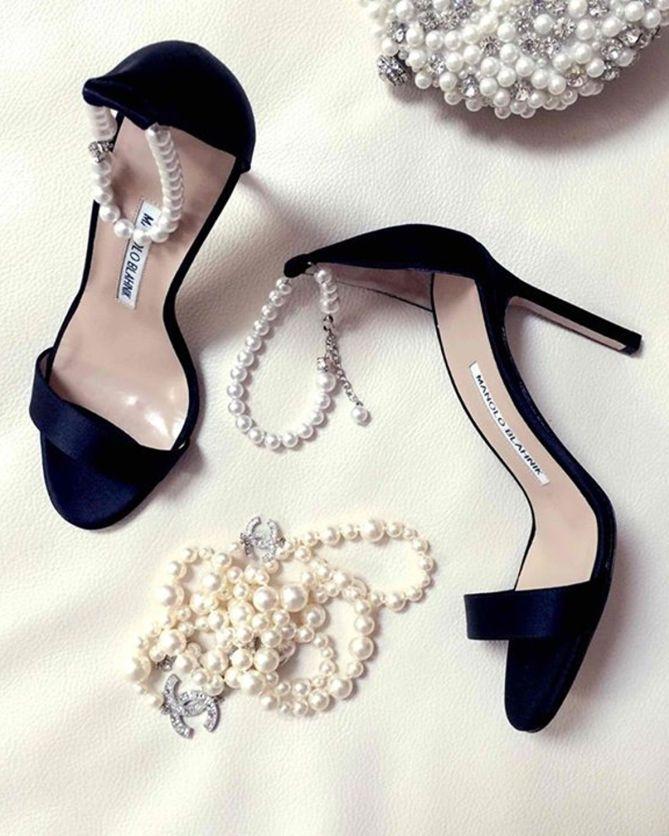 Manolo Blahnik Chaos Pearly Ankle-Wrap Sandal | Buy ➜ http://shoespost.com/manolo-blahnik-chaos-pearly-ankle-wrap-sandal/