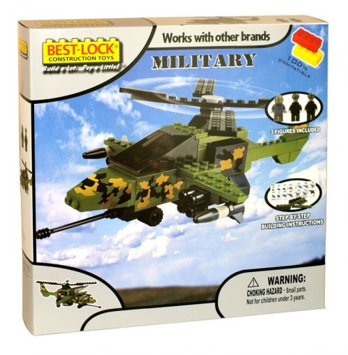 Best-lock construction toys playset military