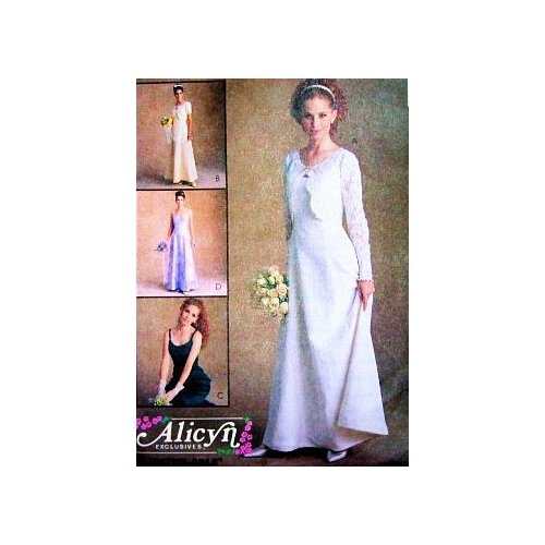 McCall's 9188 Misses Bridal & Bridesmaid Dresses by Alicyn Sizes 6-10 Wedding Dress, Prom, Special Occation: Wedding Bridesmaid Dresses, Prom Patterns, Dresses Wedding, Mccall 9188, Exclusively Dresses, Boleros Dresses, Alicyn Size, Patterns Modern, Dresses Prom