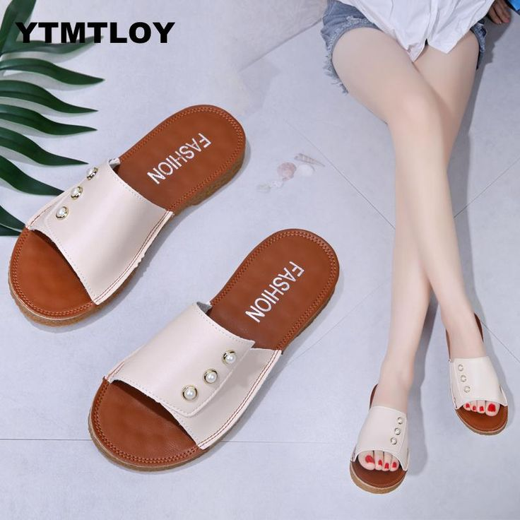 Litthing New Summer Slippers Women Bow Summer Sandals Slipper Indoor Outdoor Flip-flops Beach Shoes Female Fashion Shoes Women S