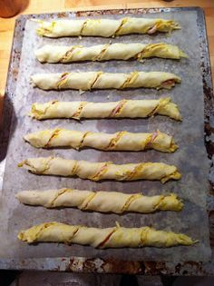 Lorraine Pascale's cheese and bacon twists.  These are a real crowd pleaser. Use ready rolled all butter puff pastry and the leanest streaky bacon you can find for the best results.