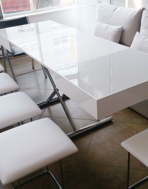 Alzare Square Transforming Coffee Table Living Room Table