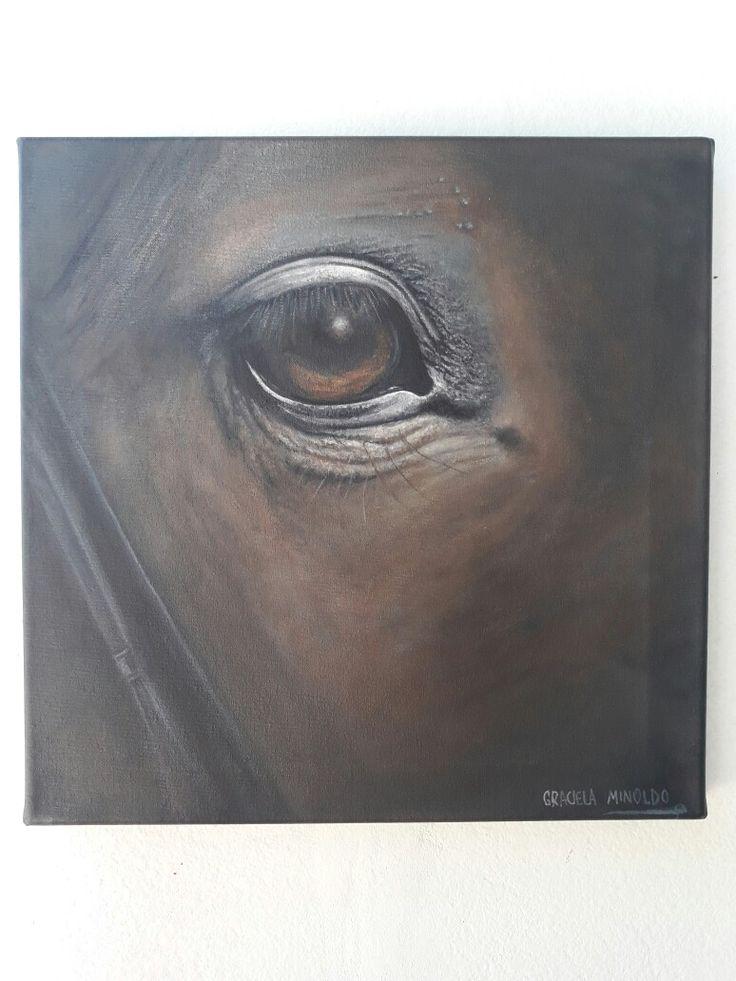 Serena quietud - óleo sobre tela 35 x 35 cm