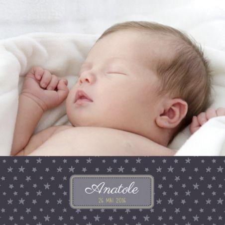 faire-part de naissance nuit étoilée by Mr & Mrs Clynk pour www.fairepartnaissance.fr #étoiles #stars