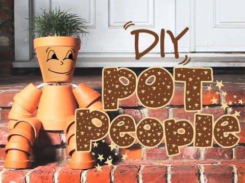DIY Clay Flower Pot People for Your Garden - Garden Lovers Club